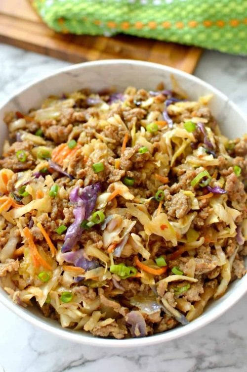 Egg Roll in a Bowl Asian Recipe