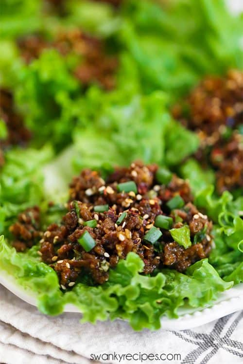 Homemade PF Chang's lettuce wraps