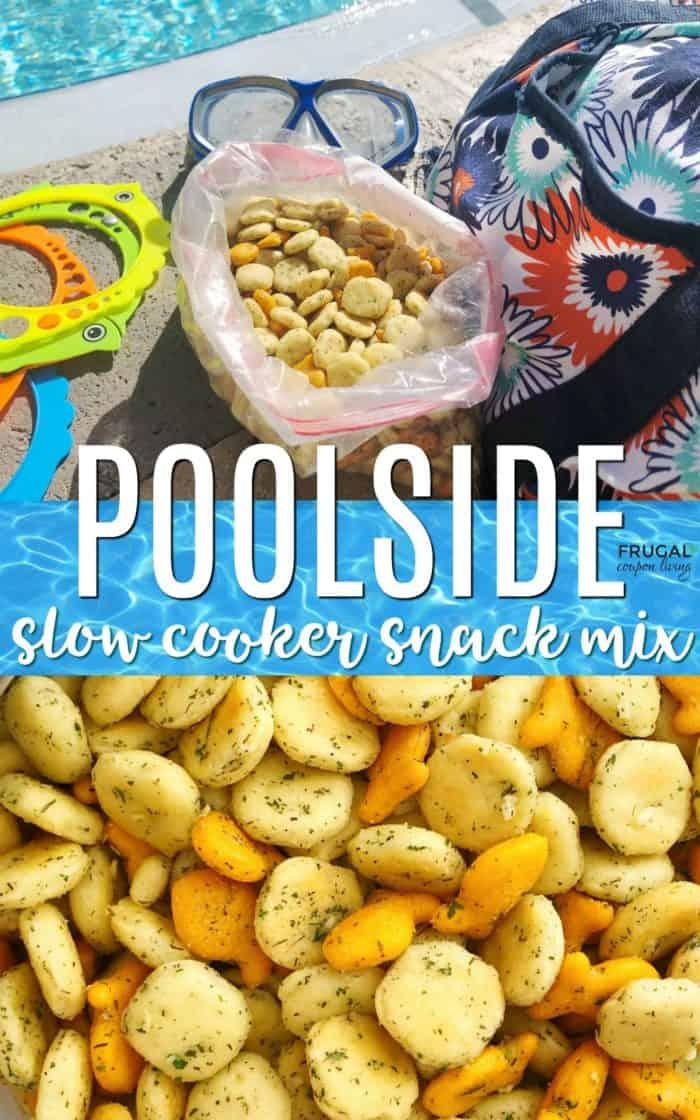 Poolside Seasoned Oyster Cracker Recipe - Beach Friendly Food Snack Mix