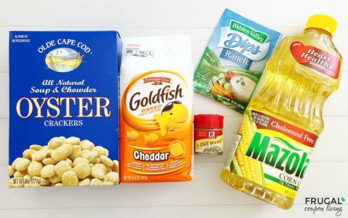 Seasoned Oyster Cracker Recipe Ingredients