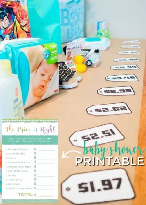 image about Price is Right Baby Shower Game Printable known as 20 Boy or girl Shower Online games Printables On your own Will Truly Take pleasure in