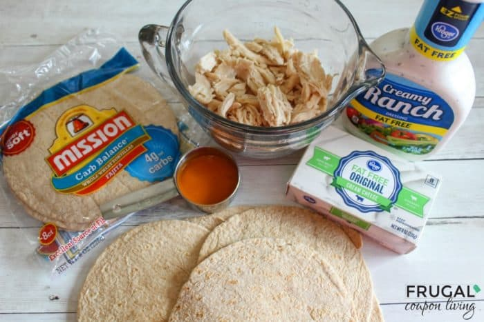 Ingredients for Low Carb Taquitos