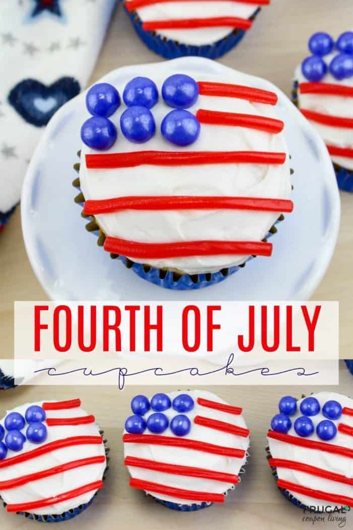 American Flag Fourth of July Cupcakes
