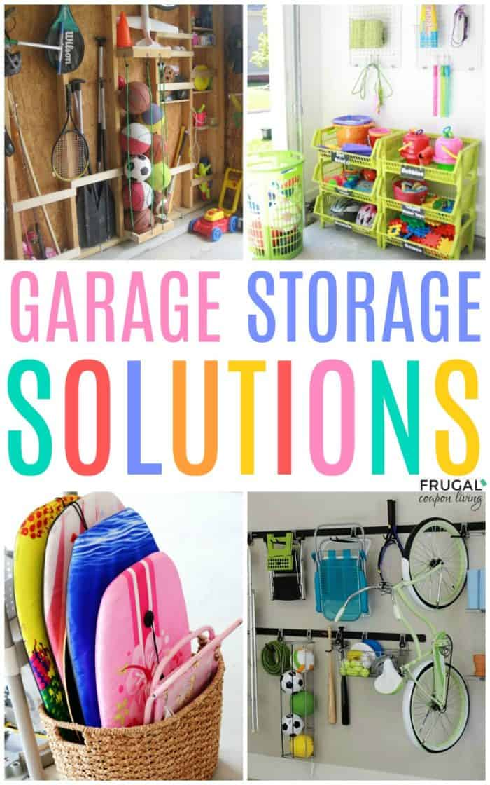 Easy Garage Storage Solutions & Hacks