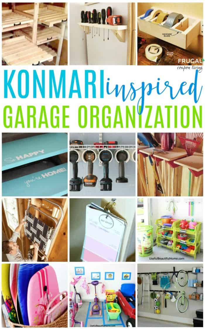 konmari organization for garage organization
