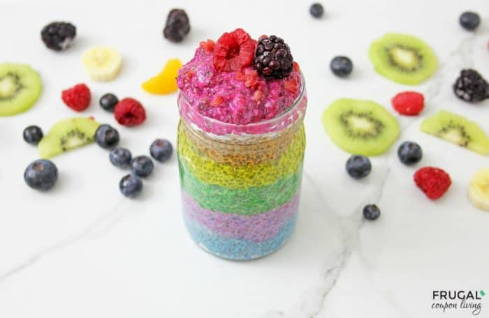 Rainbow Chia Pudding Parfait with Fruit