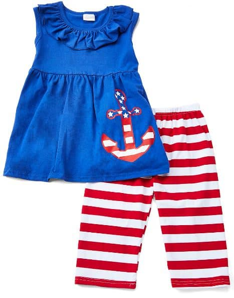 76df60334f87 ... Anchor Sleeveless Top & Red & White Stripe Capri Pants Set is both  patriotic in its colors and summer-ready in its design. Your kids will want  to wear ...