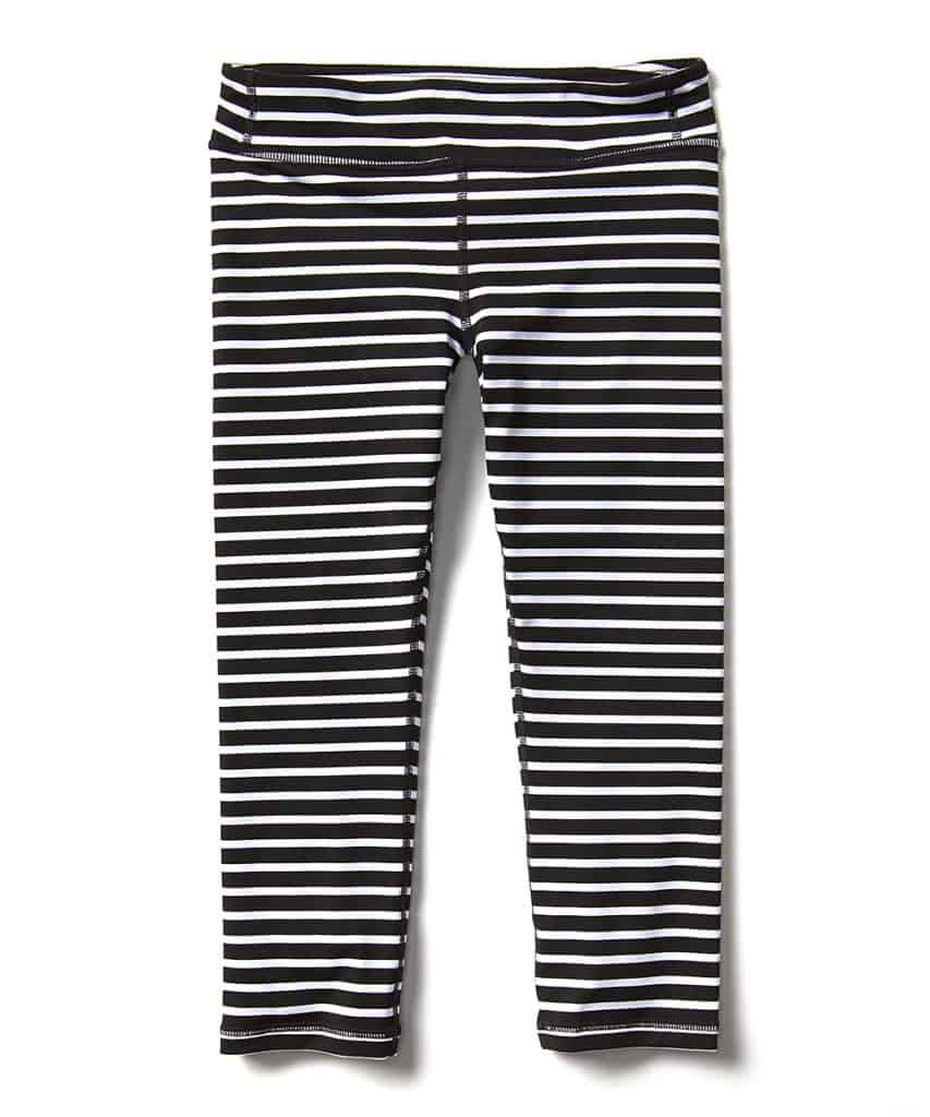 b17dcec08593 I love these girls Black & White Stripe Chit Chat Leggings. They add a fun  pop with the stripes, and you can pair them with solid color tees and tanks.