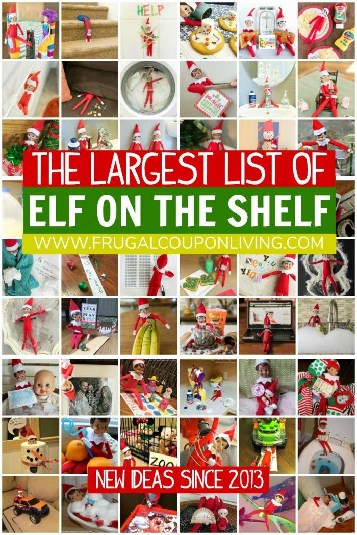 Master Elf on the Shelf List of Ideas