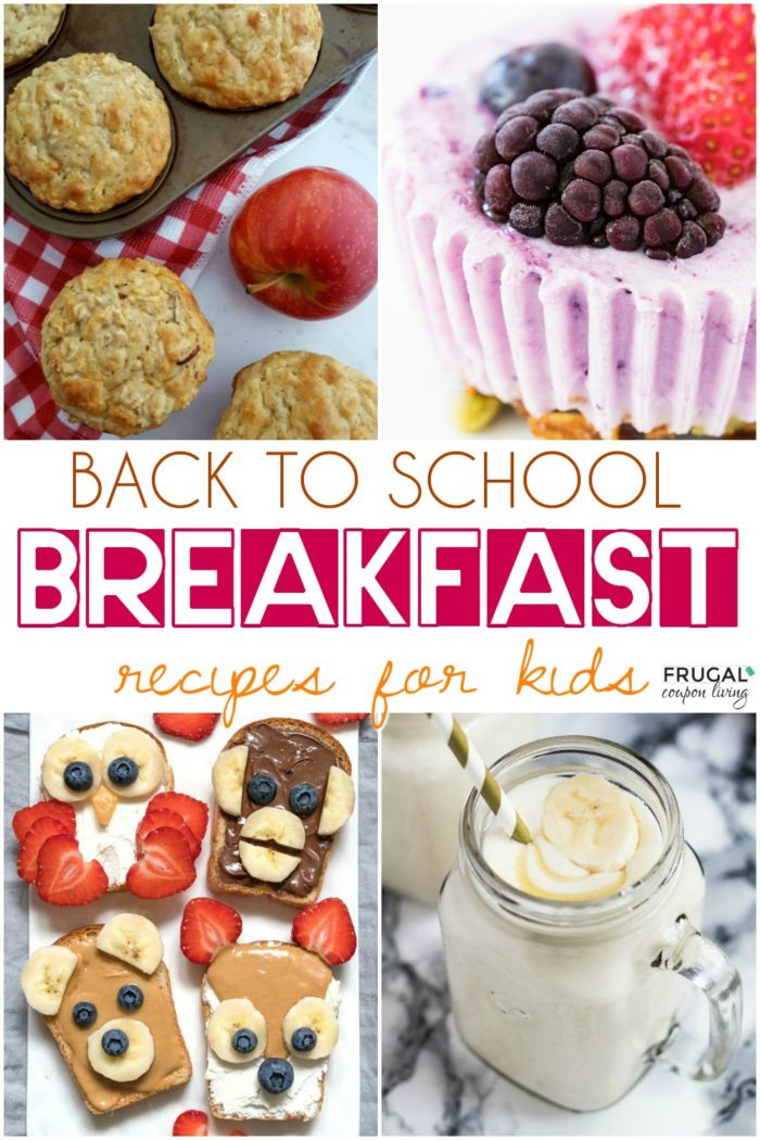 Kids Breakfast Recipes for Back to School