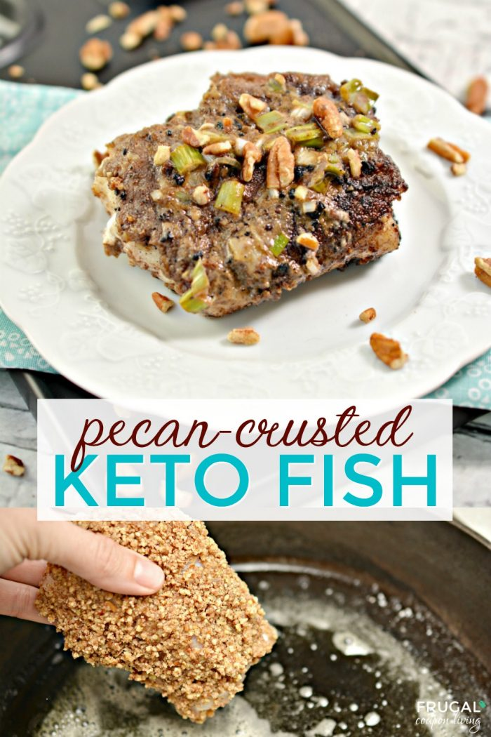 Pecan-Crusted Fish Keto Recipe with Cajun Cream Sauce