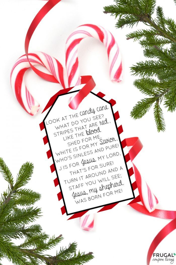 Christmas Candy Cane Poem Printable