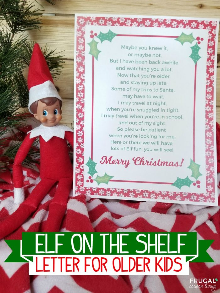 CHRISTMAS ELF SITS ON THE SHELF BEHAVING BAD ACCESSORIES POSTCARD GOOD BYE NOTE