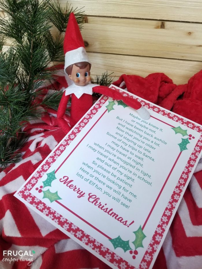 Elf on the Shelf Letter Template to Older Kids