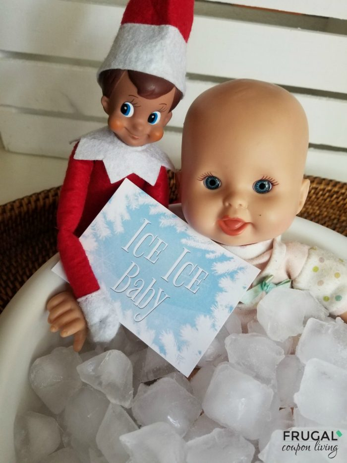 Ice Ice Baby Printable Elf on the Shelf Idea