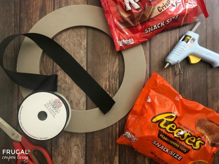 Halloween Candy Wreath Supplies