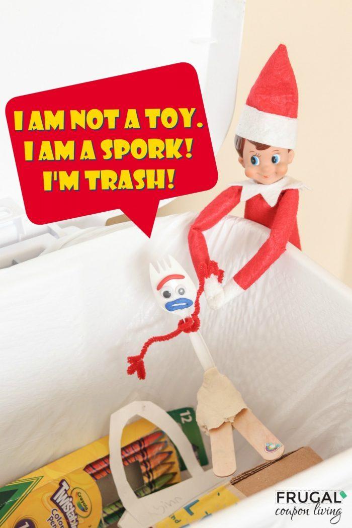 Toy Story 4 Forky + Elf on the Shelf Ideas