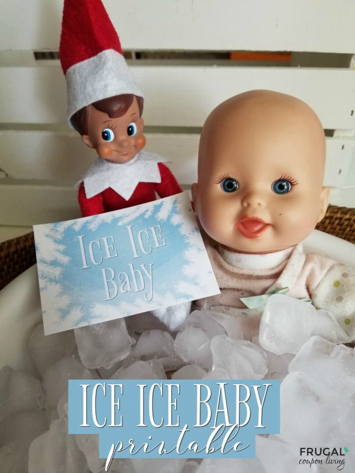 Punny Elf on the Shelf Idea - Funny Ice Ice Baby Elf Joke