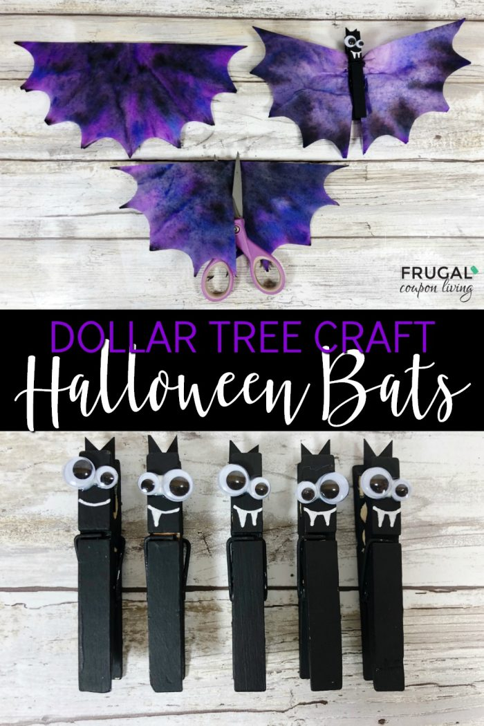 Dollar Tree Halloween Decorations Cute Bat Craft