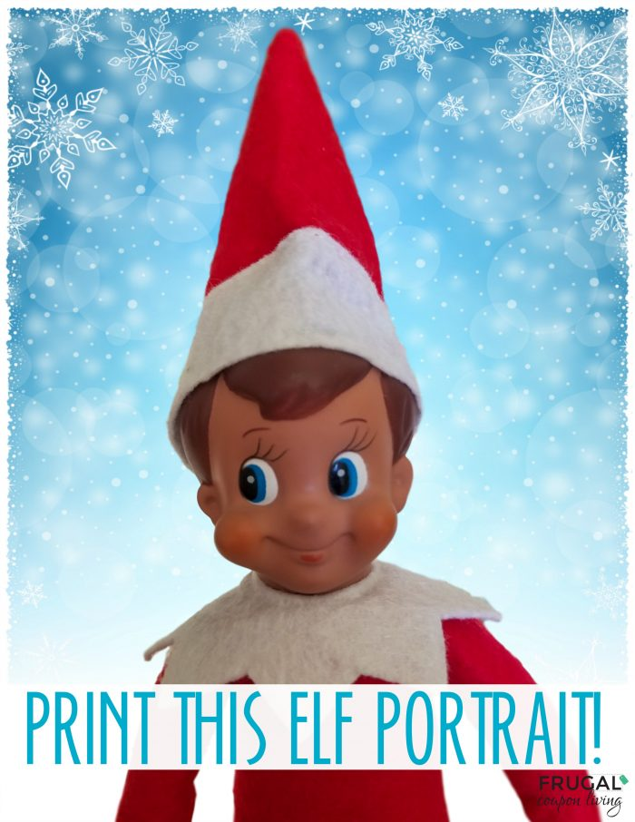 Elf on the Shelf Elf Portrait Printable
