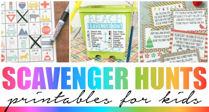 Scavenger Hunt Printables for Kids