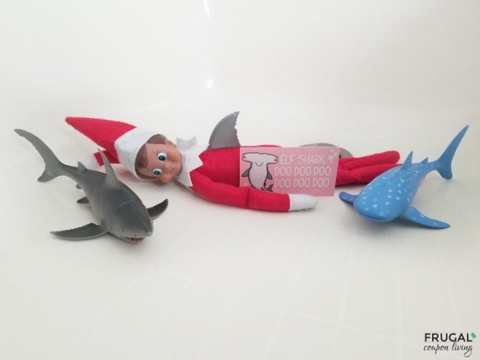 Elf on the Shelf Shark Idea