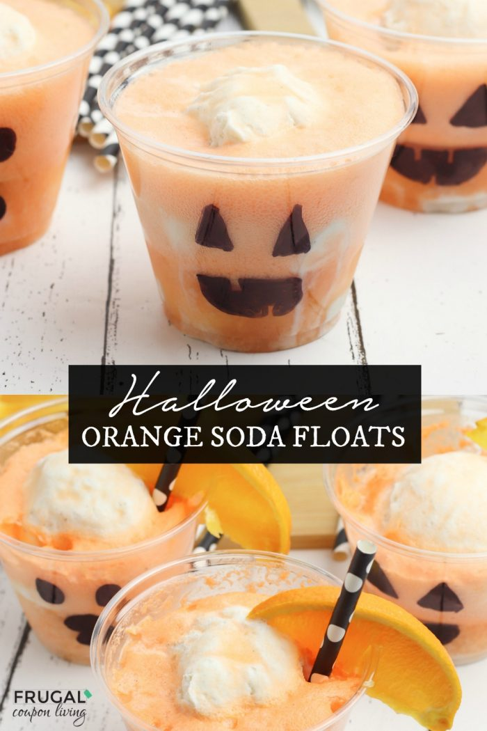 Halloween orange soda floats recipe