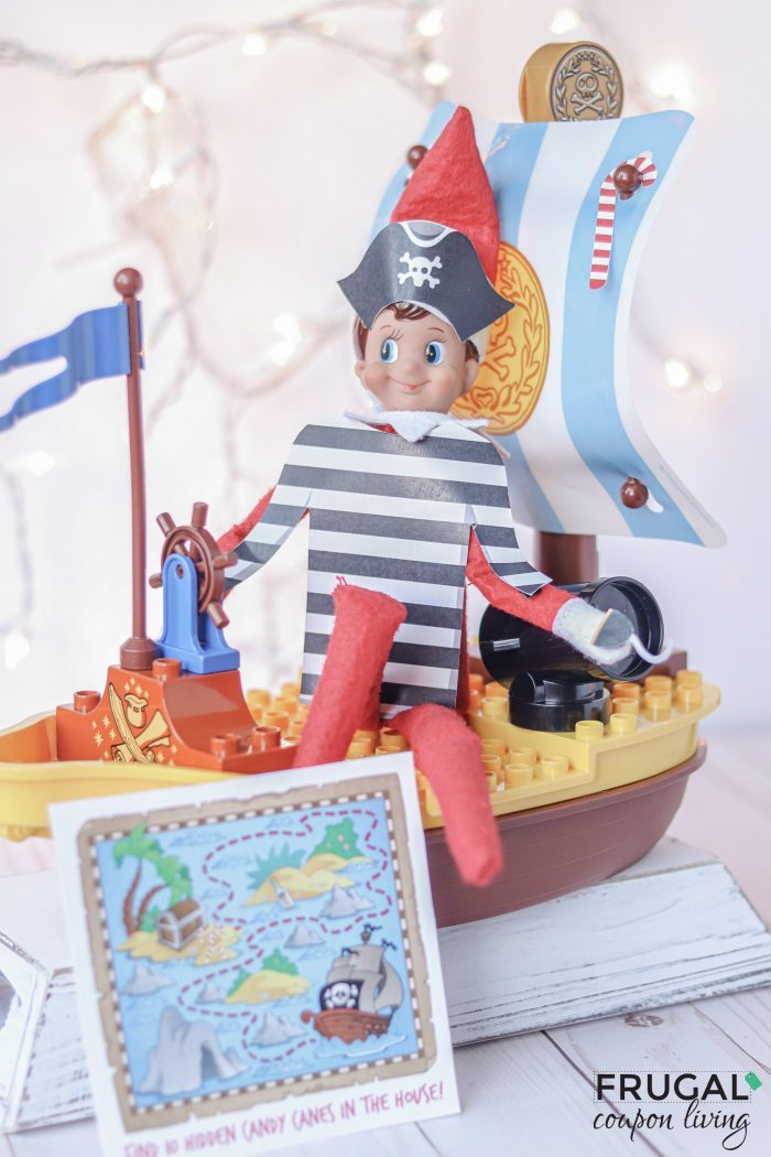 Elf on the Shelf Pirate Costume Printable