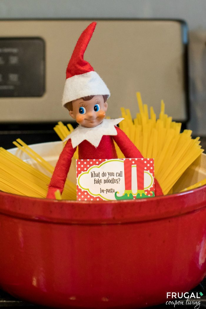 Funny Elf on the Shelf Idea and Printable