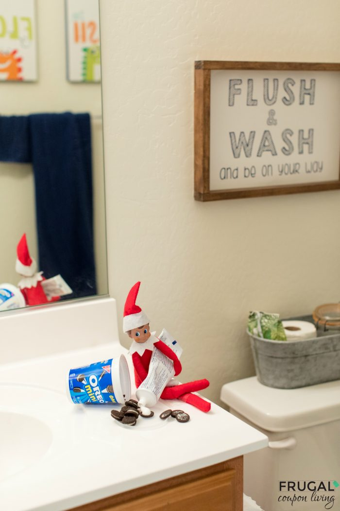 Elf Toothpaste OREO Bathroom prank
