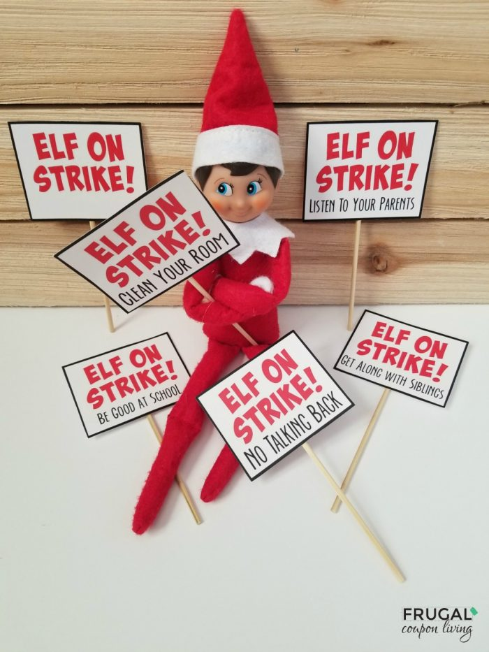 Elf on Strike Printable