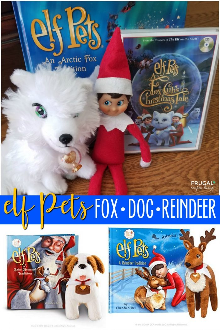 Elf Pets - Arctic Fox, Reindeer and St. Bernard Dog