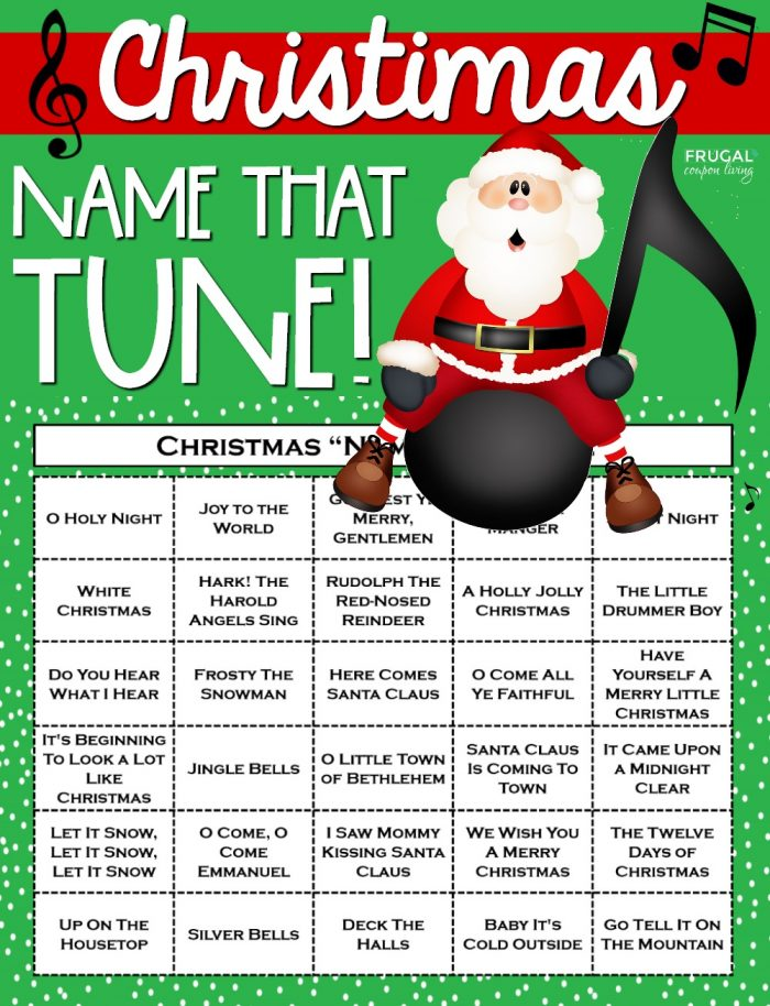 Christmas Name that Tune Printable