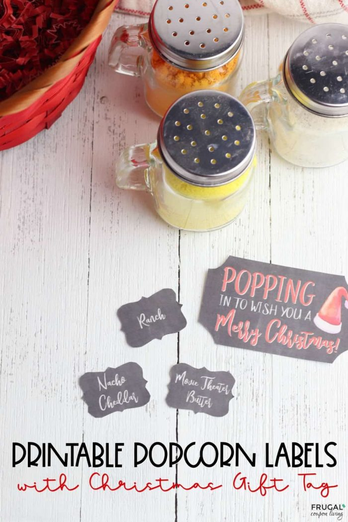 Printable Popcorn Labels and Gift Basket Ideas