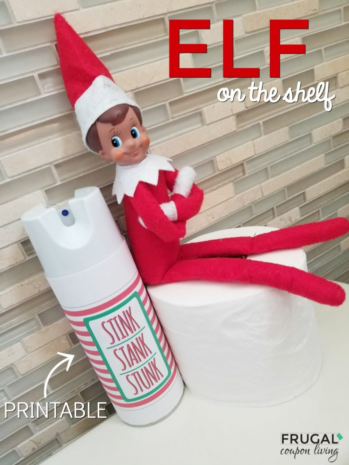Elf on the Shelf Bathroom Antics Printable Spray
