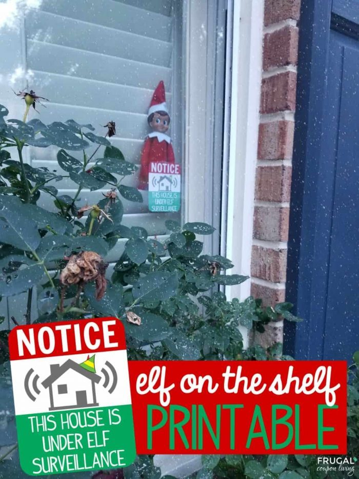 This House is Under Elf Surveillance Printable