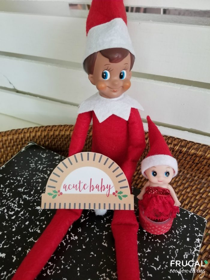 Funny Acute Baby Elf on the Shelf Printable Frugal Coupon Living
