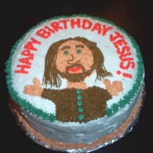 Fine Jesus Birthday Cakes For Christmas Personalised Birthday Cards Beptaeletsinfo