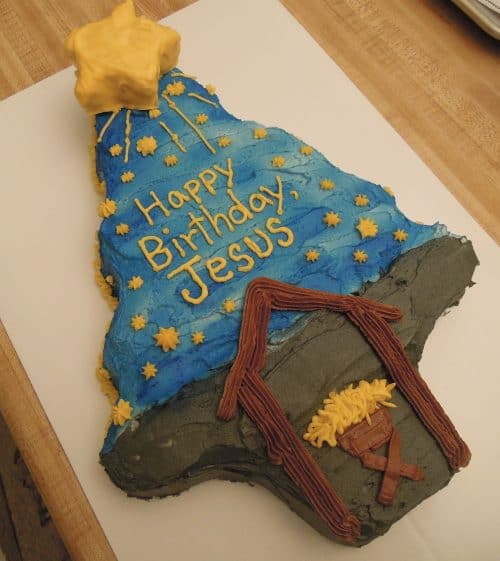Outstanding Jesus Birthday Cakes For Christmas Funny Birthday Cards Online Chimdamsfinfo