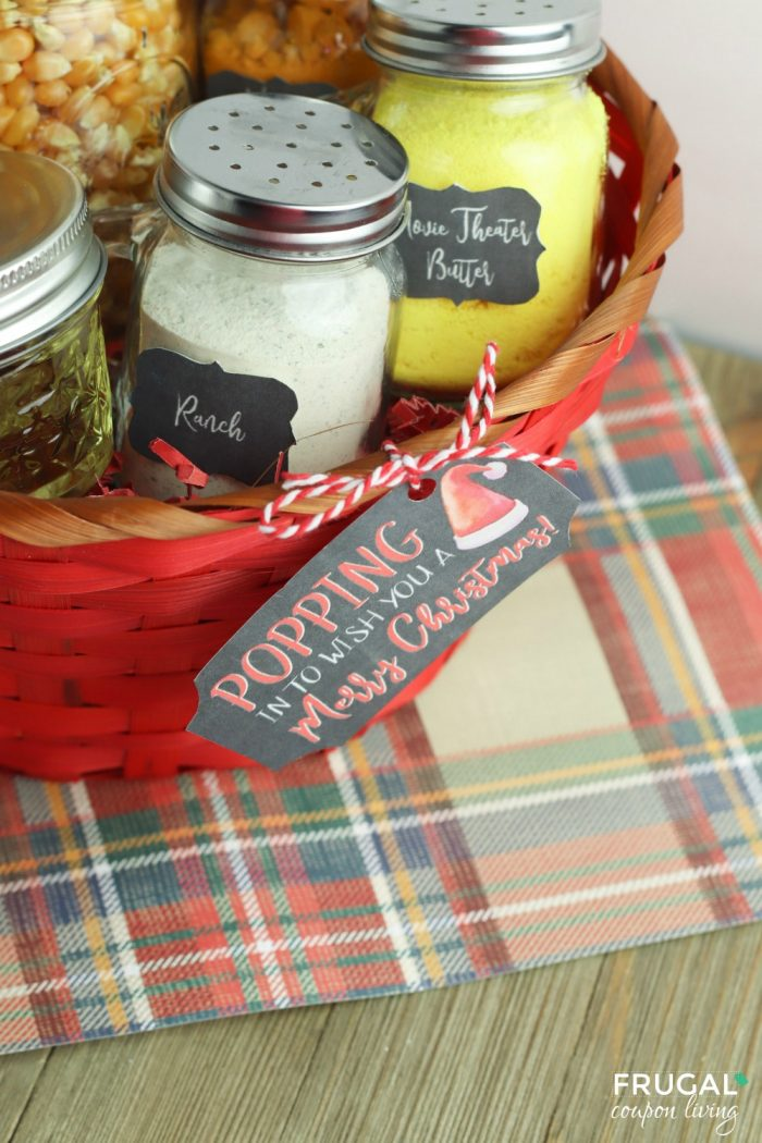DIY Popcorn Gift Basket Ideas for Christmas
