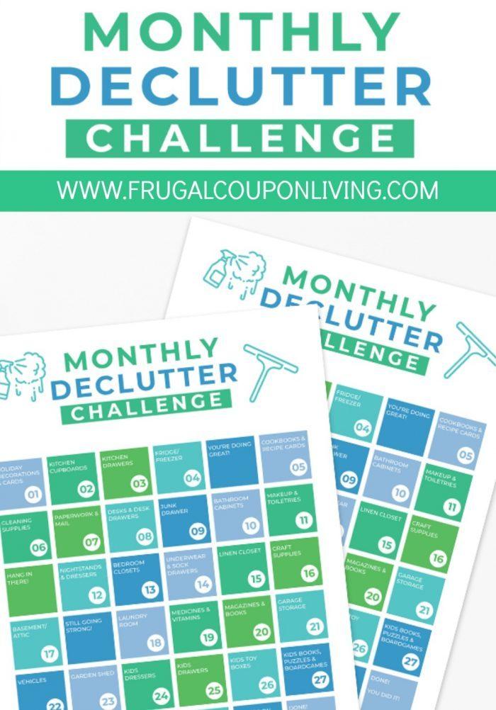 Declutter Challenge Checklist Printable PDF