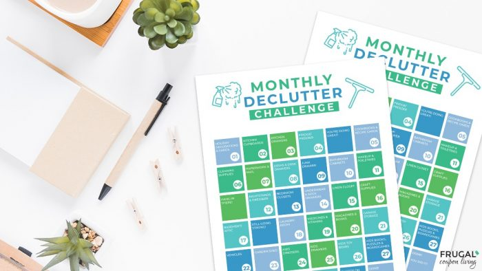 Monthly Declutter Checklist Printable PDF