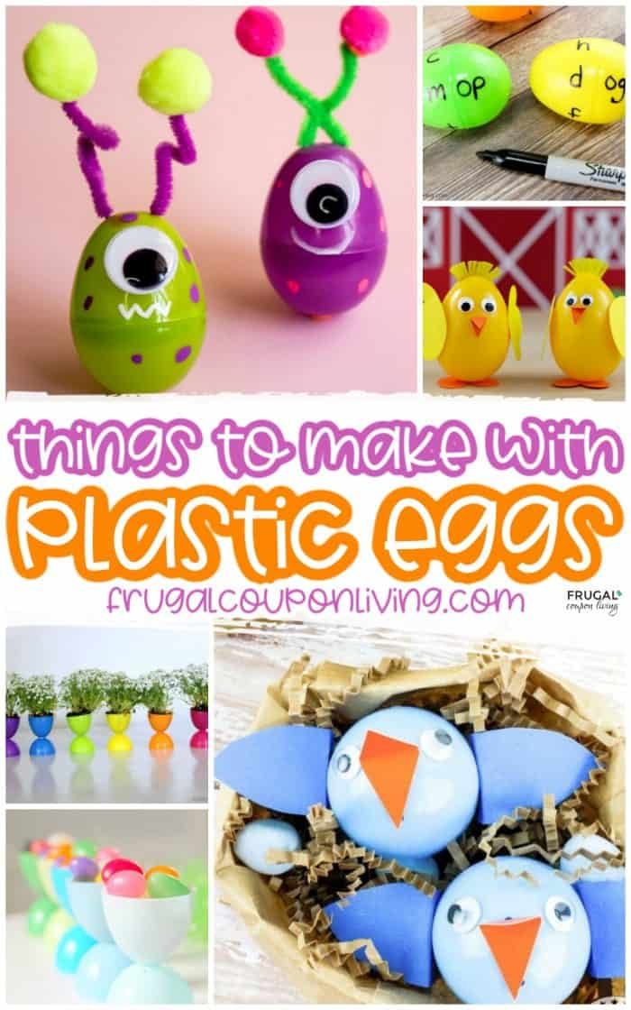 Plastic Easter Egg Crafts Upcyled Cute Ideas For Spring