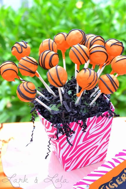 Tiger Cake Pops
