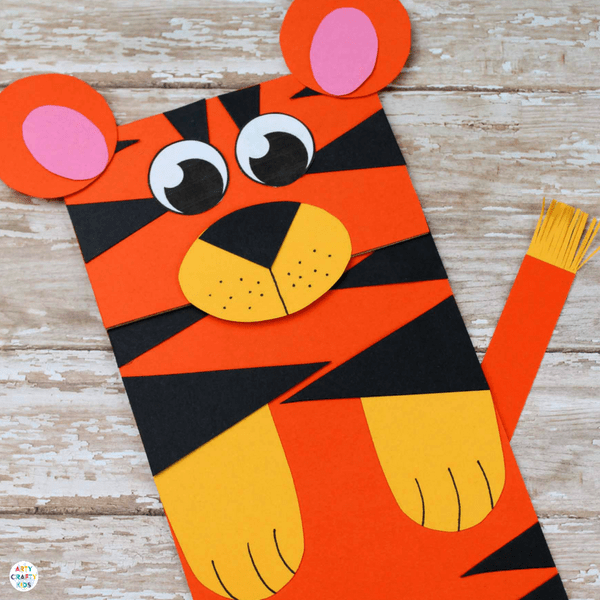 Tiger Brown Bag Puppet