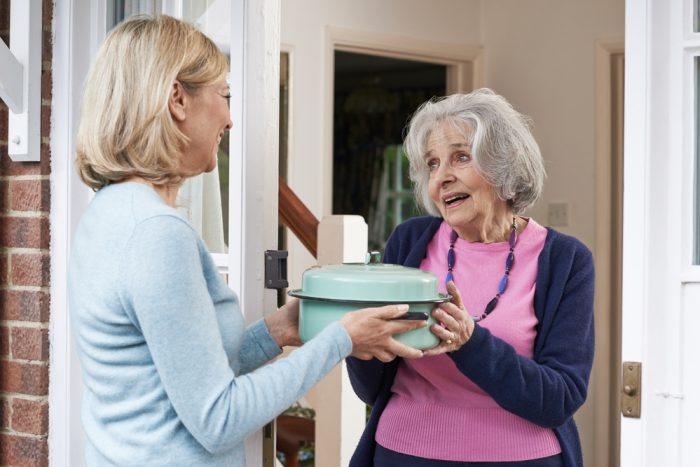 Bringing Dinner to Elderly Neighbors
