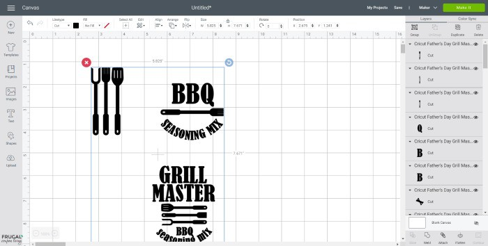 BBQ Seasoning Mix in Cricut Design Space