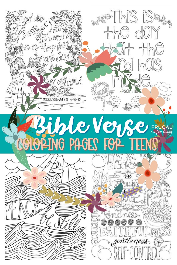 Bible Verse Coloring Pages for Teens