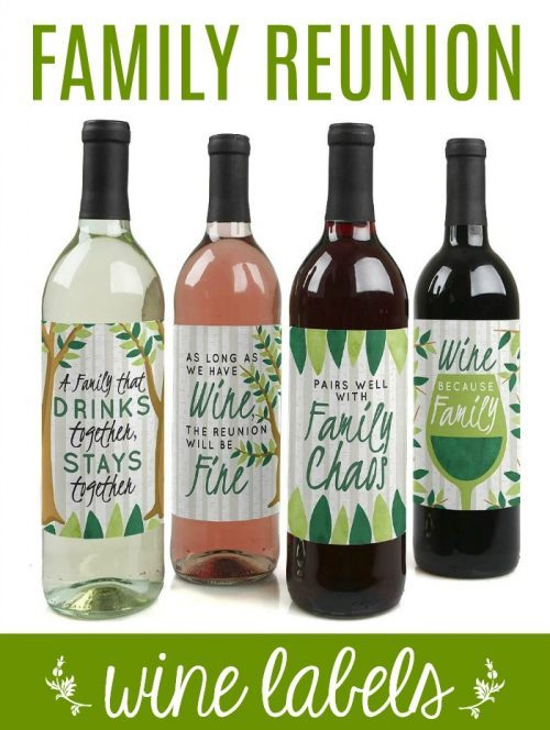 Family Reunion Wine Labels