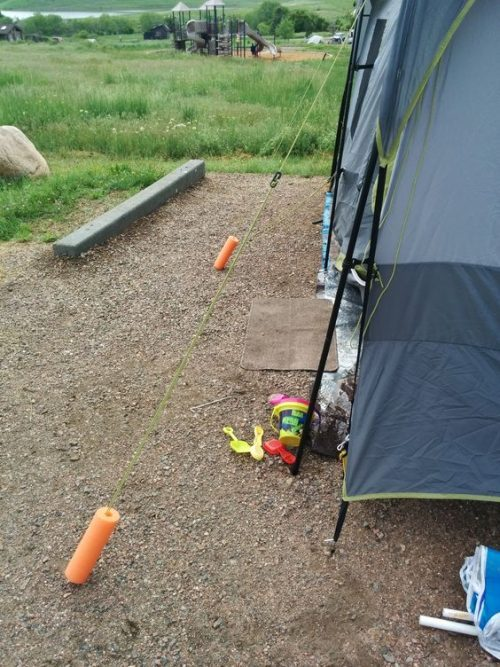 Pool Noodle Hack for Camping